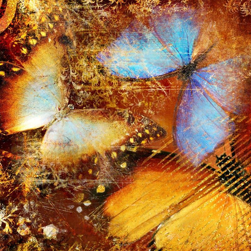 Artistieke vlinders royalty-vrije illustratie