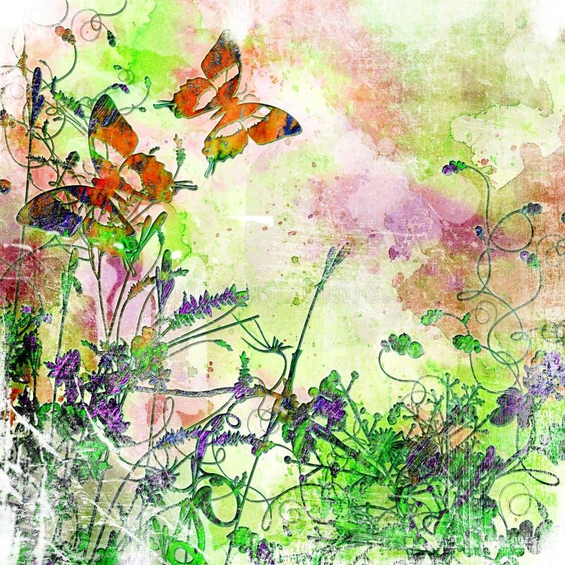 Artistieke vlinders stock illustratie