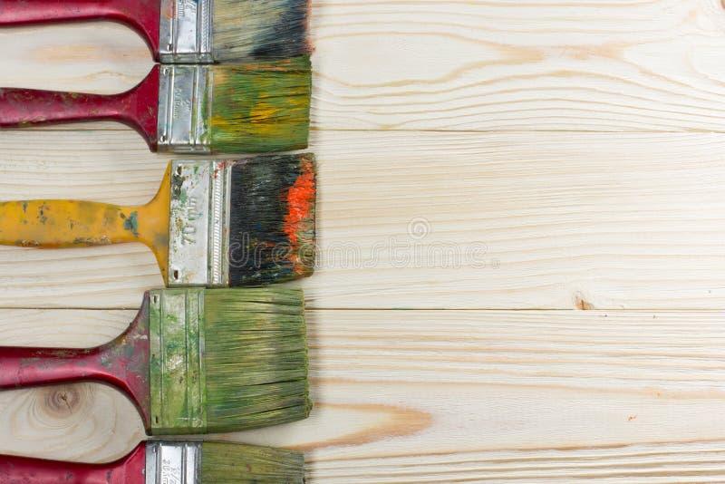 Artistique, artiste, art Pinceaux utilisés d'artiste photos libres de droits