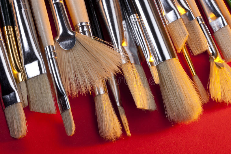 Artists Brushes stock image