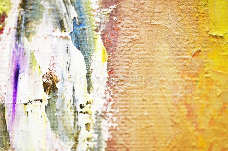 Artists oil paints multicolored closeup abstract background. Soft focus. Image royalty free stock photography