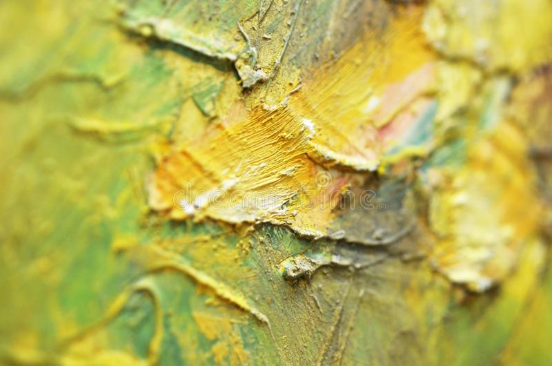 Artists oil paints multicolored closeup abstract background. Soft focus. Image stock photography