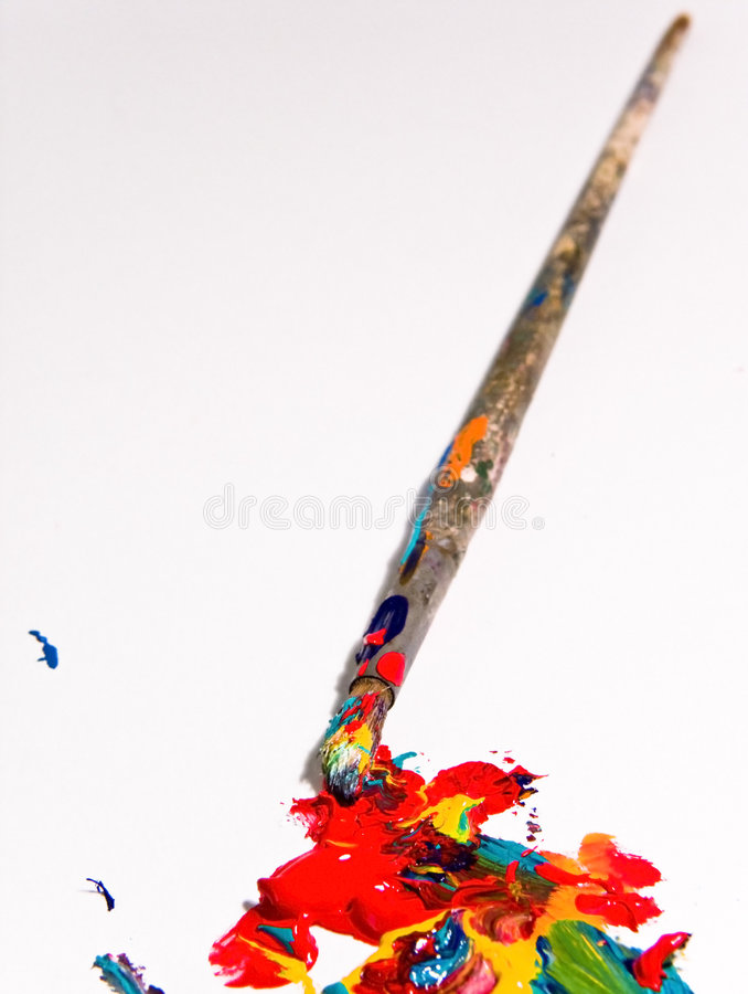 Artists painting tools royalty free stock image
