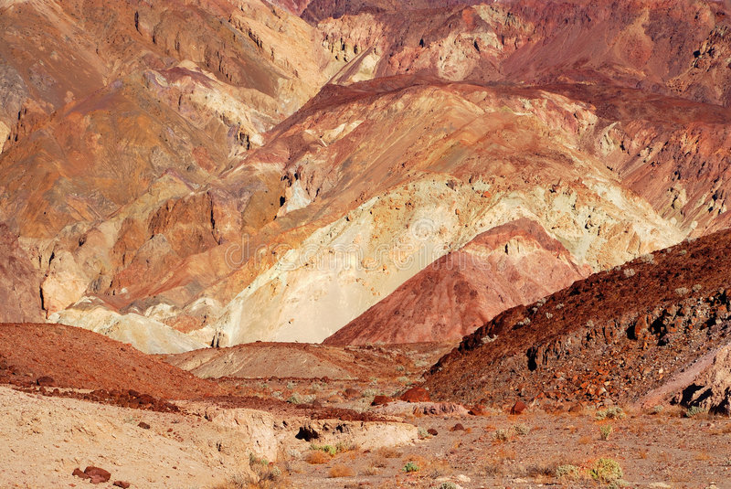 Artists Palette Death Valley, royalty free stock photos