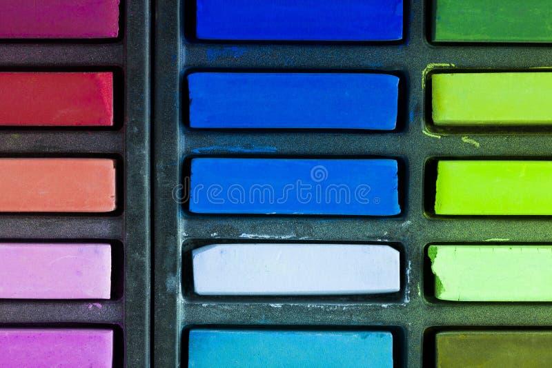Artists soft pastels. Artist soft pastels colourful background image stock photo