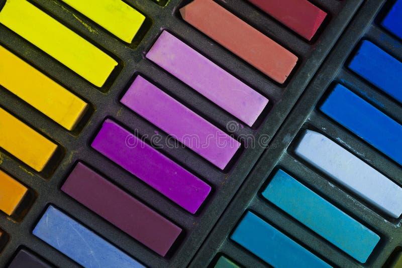 Artists soft pastels. Still life background royalty free stock photos