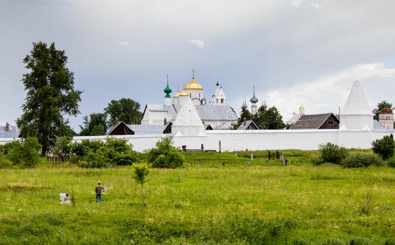 Pokrovsky monastery in Suzdal, Russia royalty free stock photography
