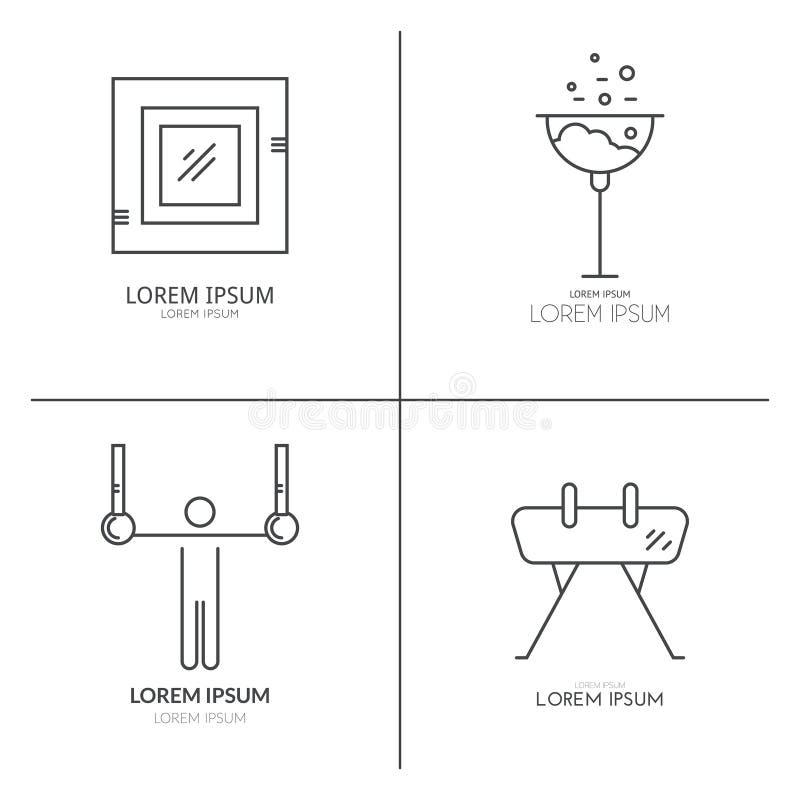 Artiticgymnastiek Logotypes royalty-vrije illustratie