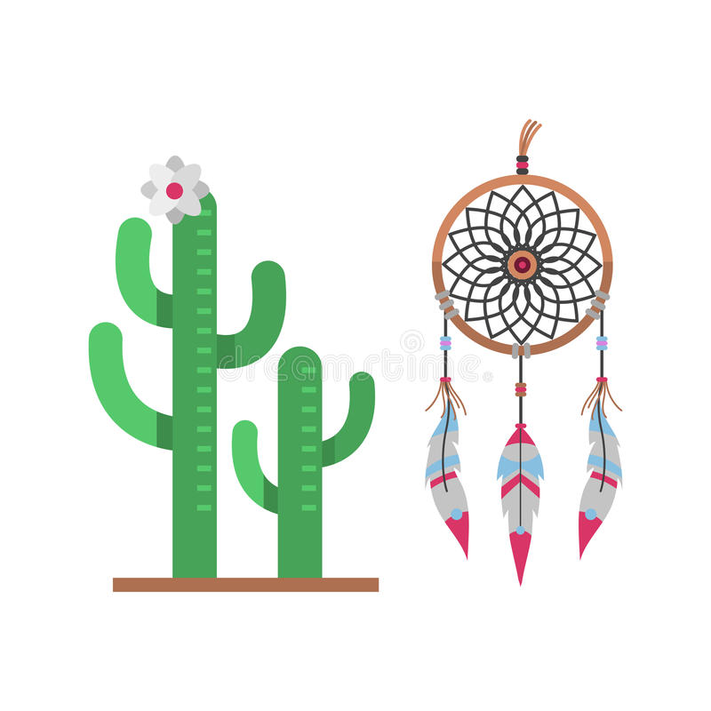 Artnaturwüstenblumengrünkarikatur-Zeichnung des Kaktus saftige der flachen grafische mexikanische und tropische Betriebsgartenkun vektor abbildung