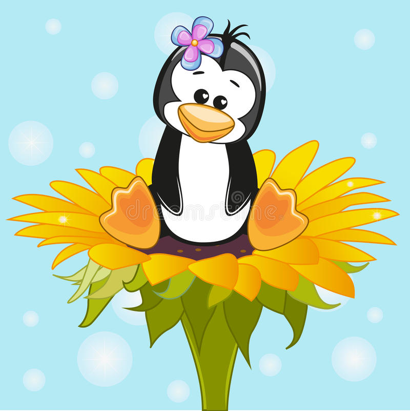 Artoon Pinguïn Ð ¡ royalty-vrije illustratie