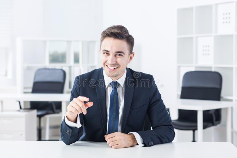 Żartować podczas akcydensowego wywiadu obraz stock