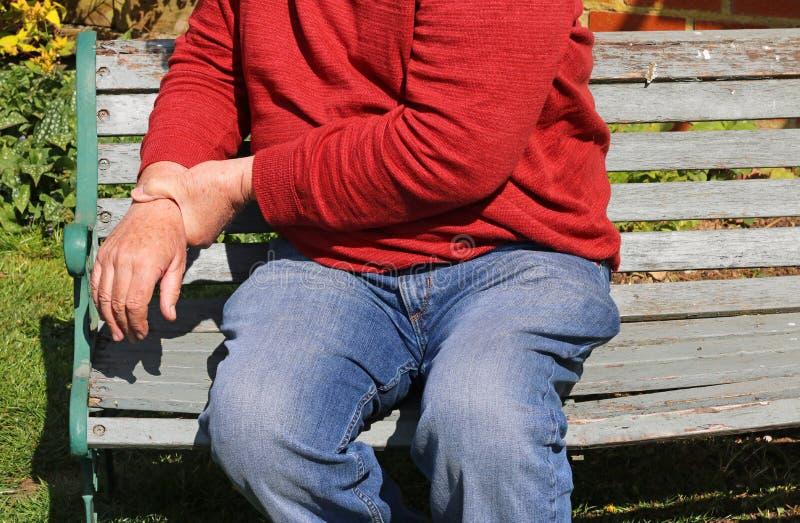 Artretyzm, boleśni nadgarstki Powtórkowy napięcie fotografia stock