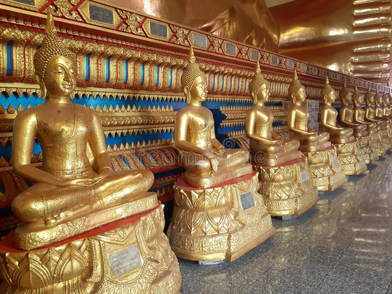 Arts and beauty in Buddhism. Arts and beauty when you come to Thailand that has Buddhism. Bridge, buddha, buddhas, buddhists, cycling, description, evening royalty free stock image