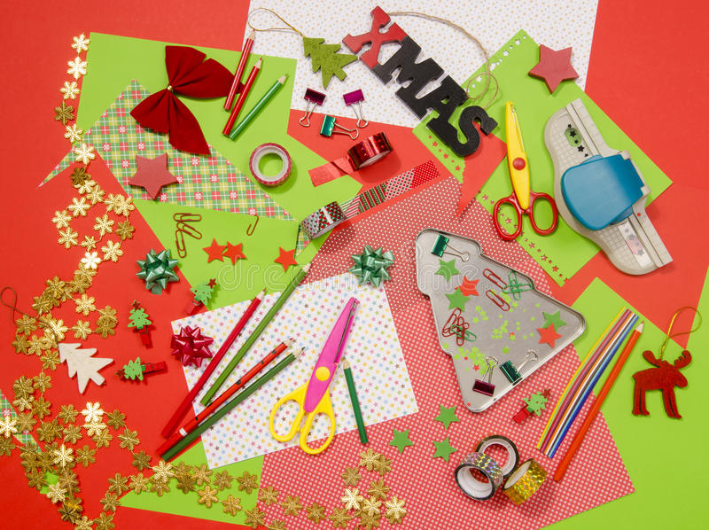 Craft Supplies Christmas Part - 32: Download Arts And Craft Supplies For Christmas. Stock Photo - Image:  63538963