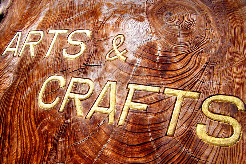 Arts And Crafts Inscription Royalty Free Stock Images
