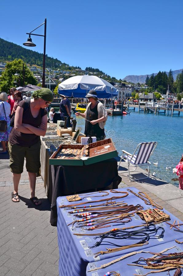 Arts and Crafts Market, Queenstown New Zealand royalty free stock images
