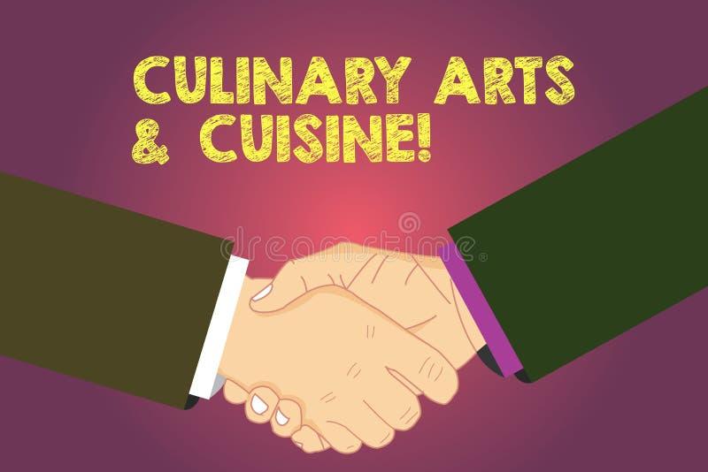Arts culinaires et cuisine des textes d'écriture de Word Concept d'affaires pour le chef préparant d'excellentes recettes HU de n illustration stock