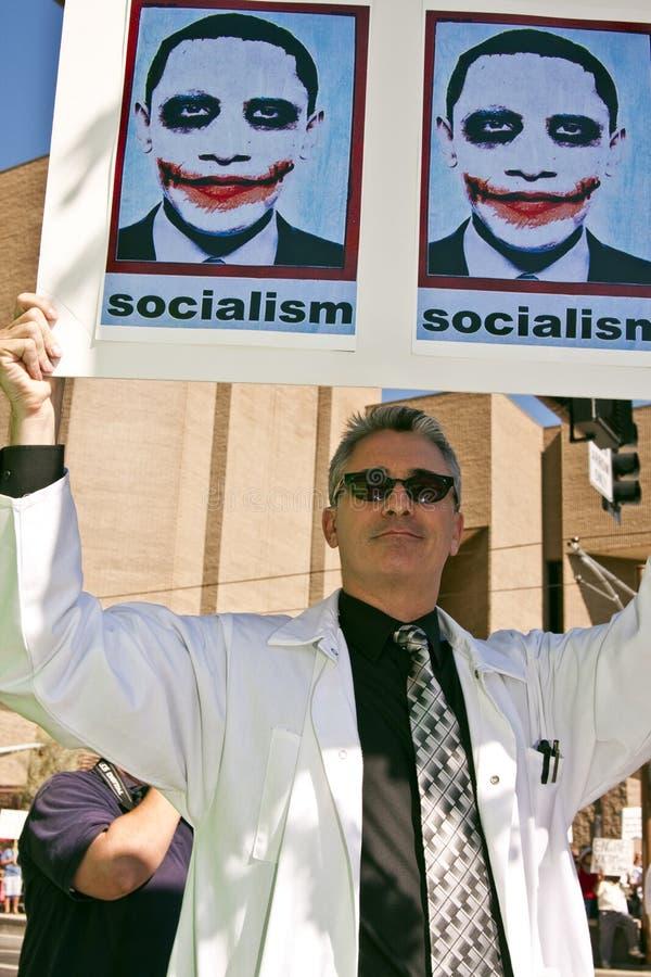 Arts die de Hervorming van de Gezondheidszorg verzet zich Obama royalty-vrije stock fotografie