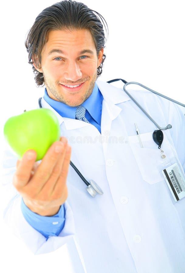 Arts die Gezond Voedsel aanbiedt stock foto's