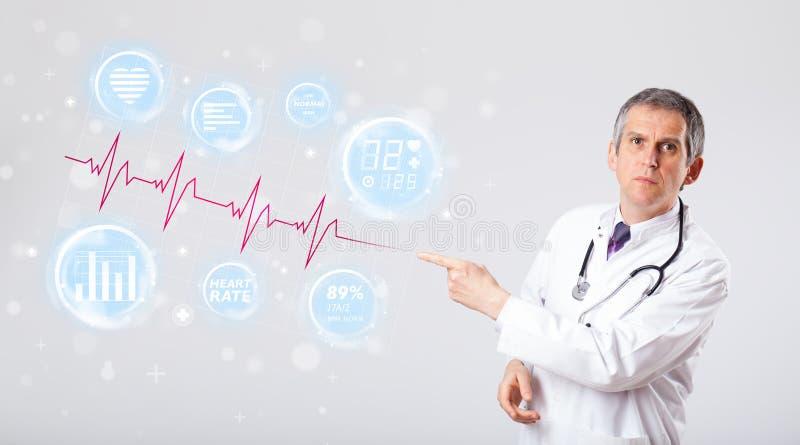 Download Arts Die Moderne Hartslaggrafiek Examinating Stock Foto - Afbeelding bestaande uit geneeskunde, hospital: 39101472