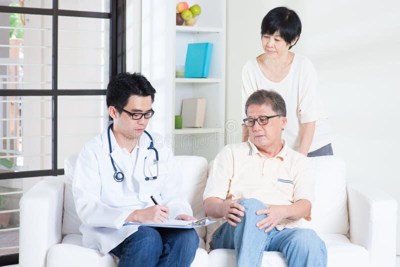 Arts en geduldig gezondheidszorgconcept stock foto