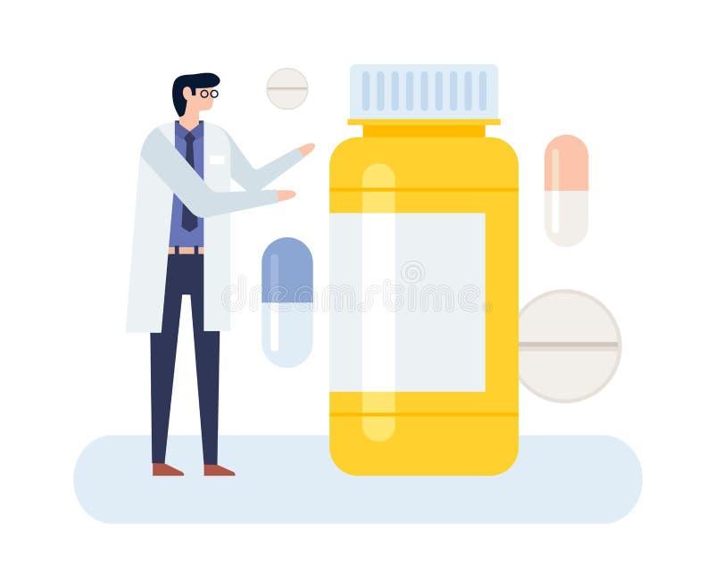 Arts en geneesmiddel vector illustratie