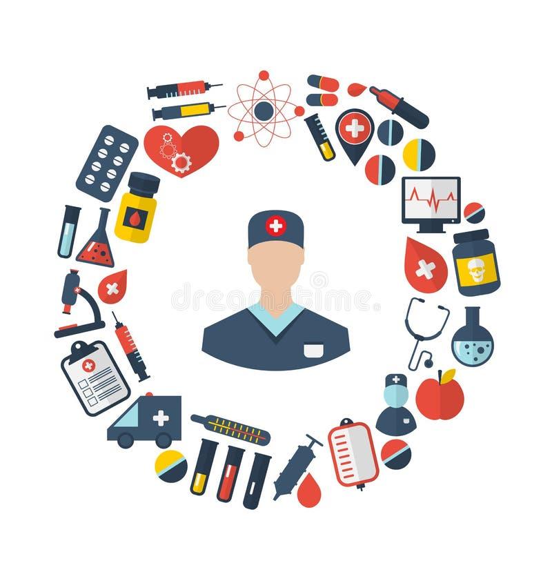 Arts en Medische apparatuur en Voorwerpen stock illustratie