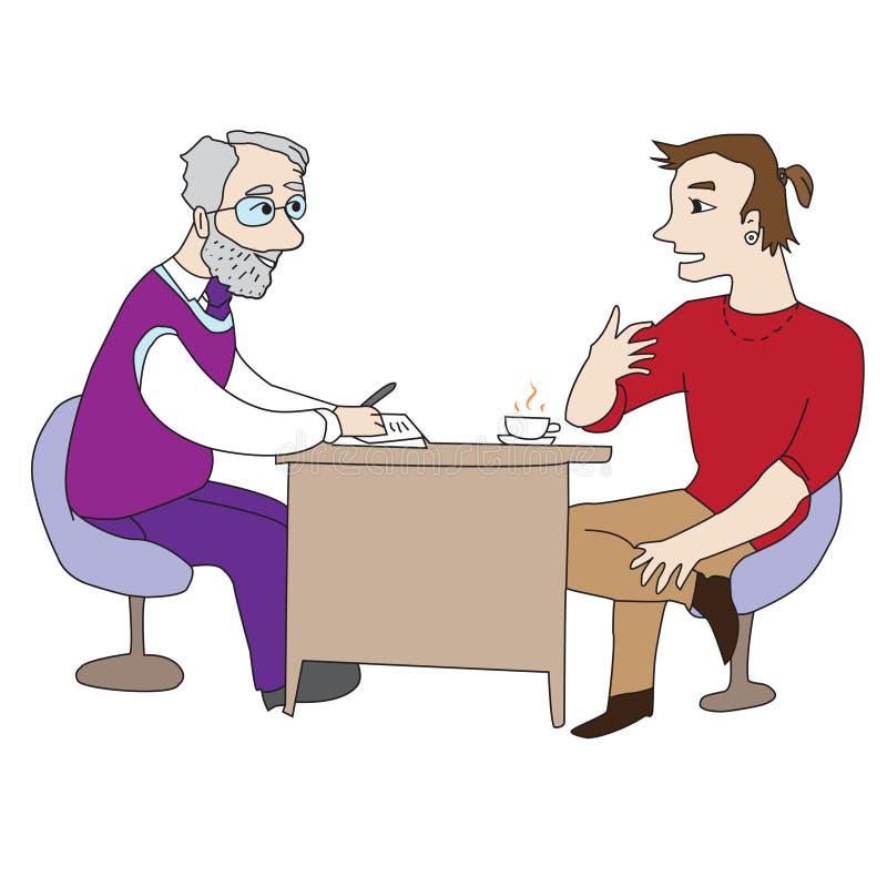 Arts en Patiënt vector illustratie