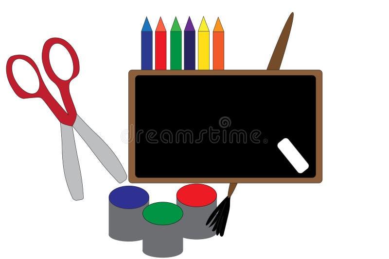 Arts et approvisionnements de métiers illustration de vecteur