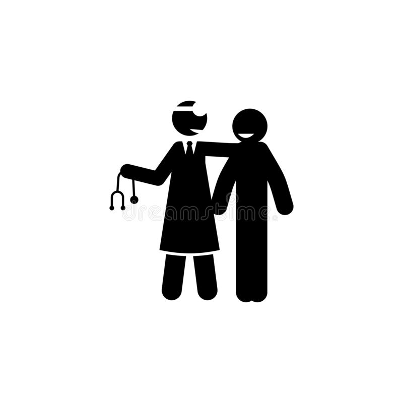 arts, geduldig pictogram Element van het pictogram van de cybermaandag voor mobiel concept en Web apps Glyphstijl de arts, geduld royalty-vrije illustratie