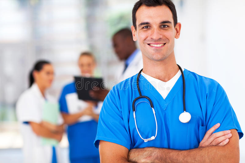 Arts in het ziekenhuis stock foto