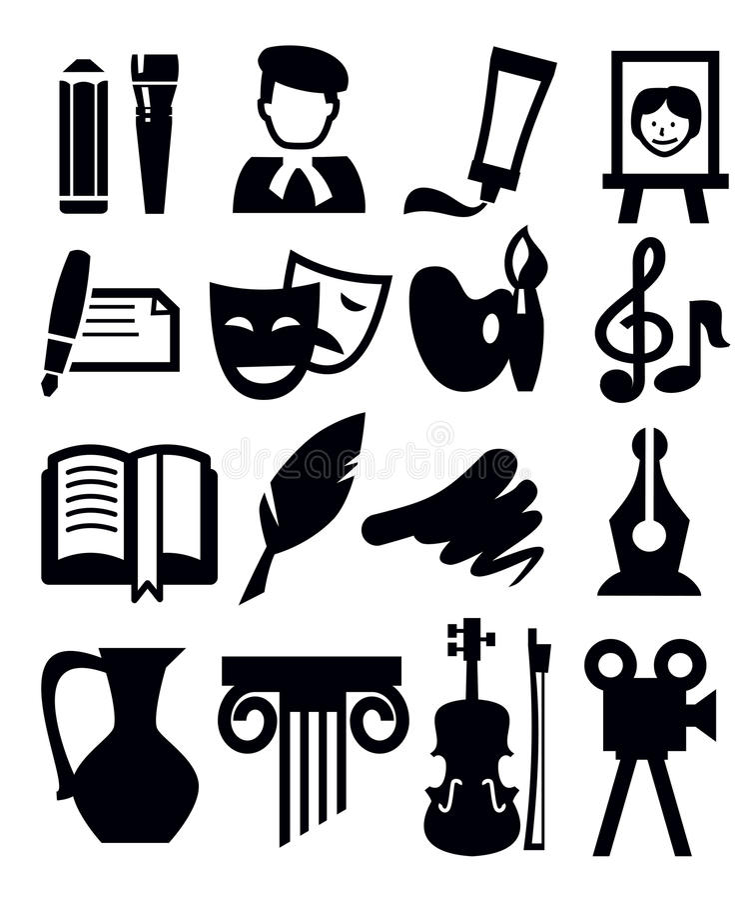 Free Arts Icon Royalty Free Stock Image - 30198846