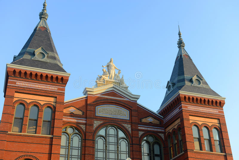 Arts and Industries Building in Washington DC, USA. Arts and Industries Building is the masterpiece of Victorian architecture. This building belongs to stock images