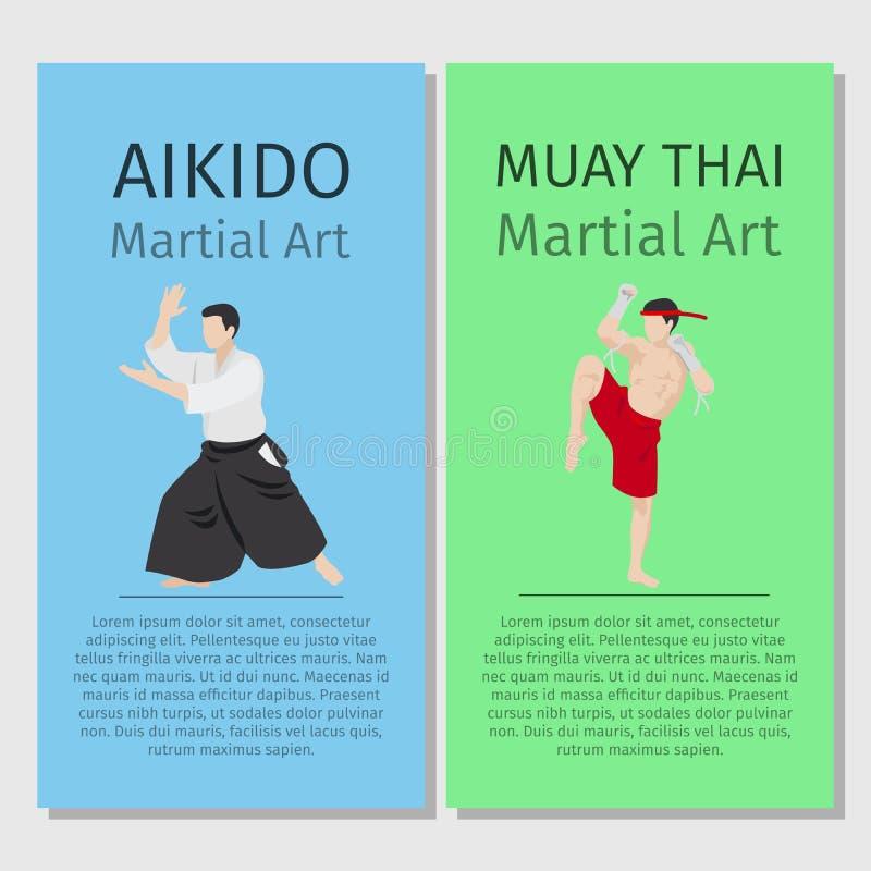 Arts martiaux asiatiques illustration stock