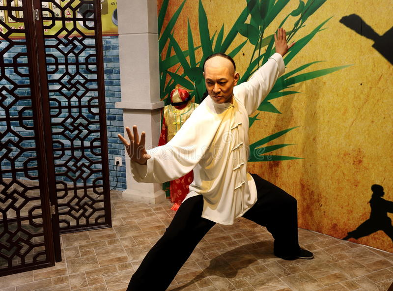 Arts martiaux de chinois traditionnel photo stock