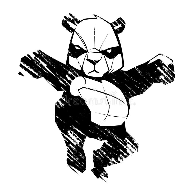 Arts martiaux de panda illustration stock