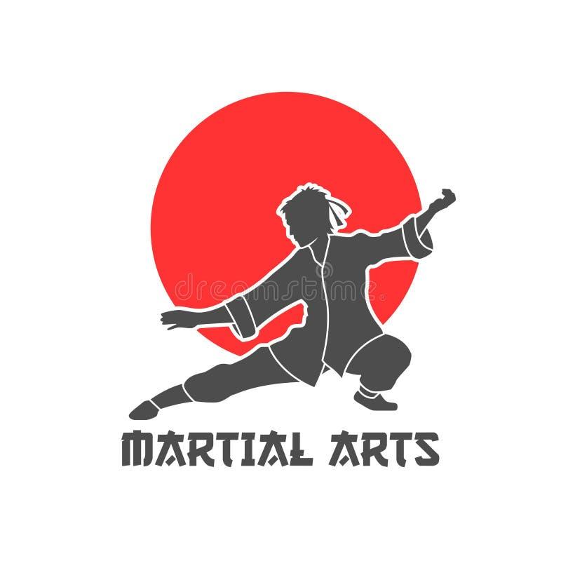 Arts martiaux Logo Illustration illustration de vecteur