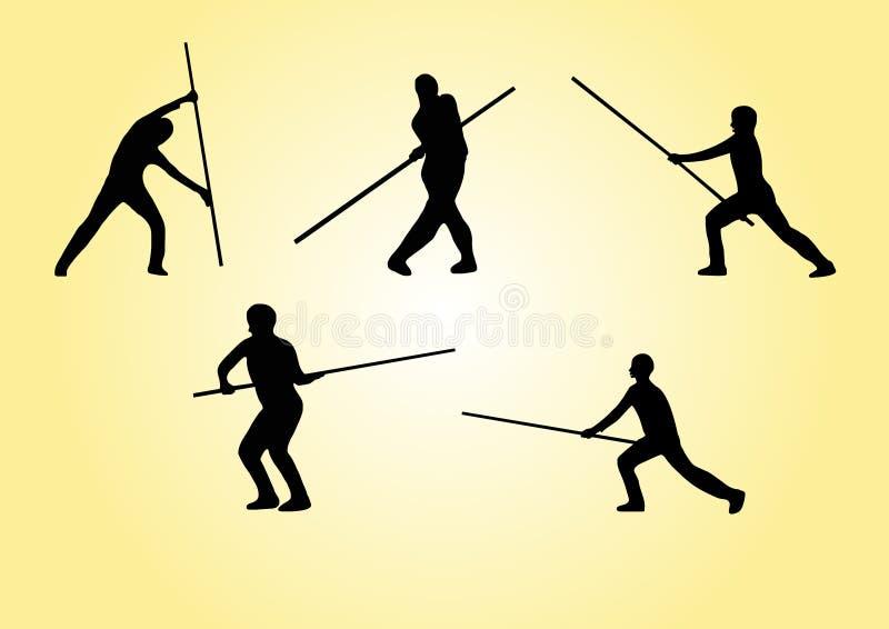 Arts martiaux - positionnement 4 illustration de vecteur