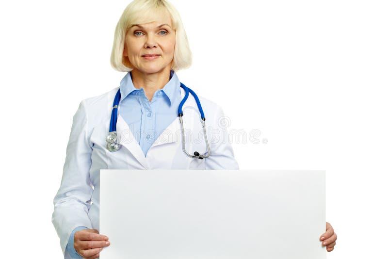 Arts met aanplakbiljet stock afbeelding