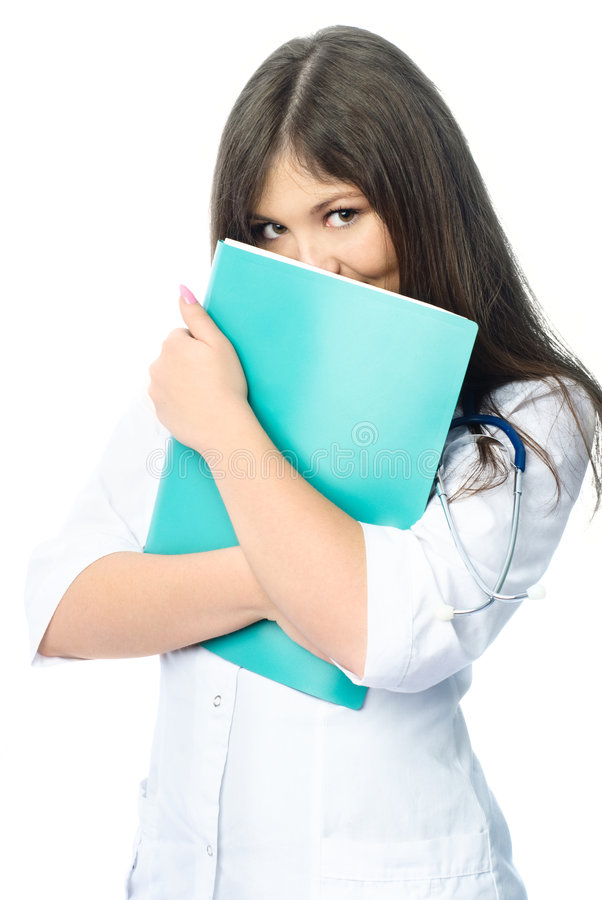 Arts met een omslag stock afbeelding
