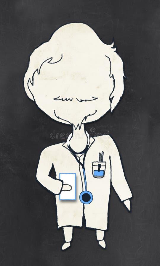Arts met het Knippen van Weg royalty-vrije illustratie