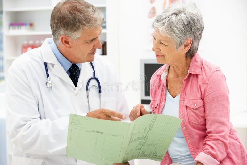 Arts met vrouwelijke patiënt royalty-vrije stock afbeelding