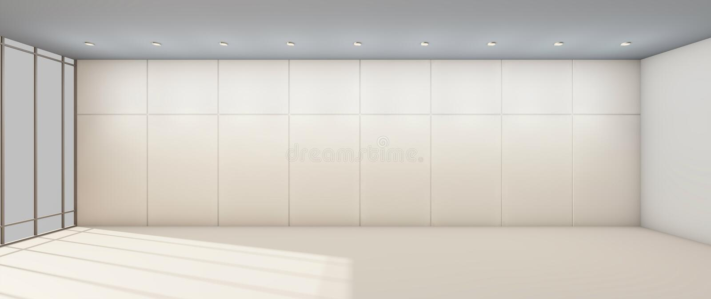 Arts modernes et galerie propres et mur de cadre simple illustration de vecteur