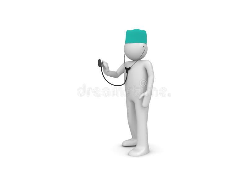 Arts op het werk stock illustratie