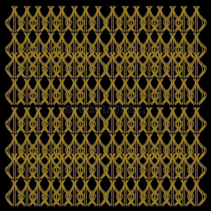 Arts originaux NOIRS de //d'or exotique de luxe de mandalas image stock