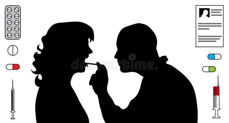 Arts Silhouette vector illustratie