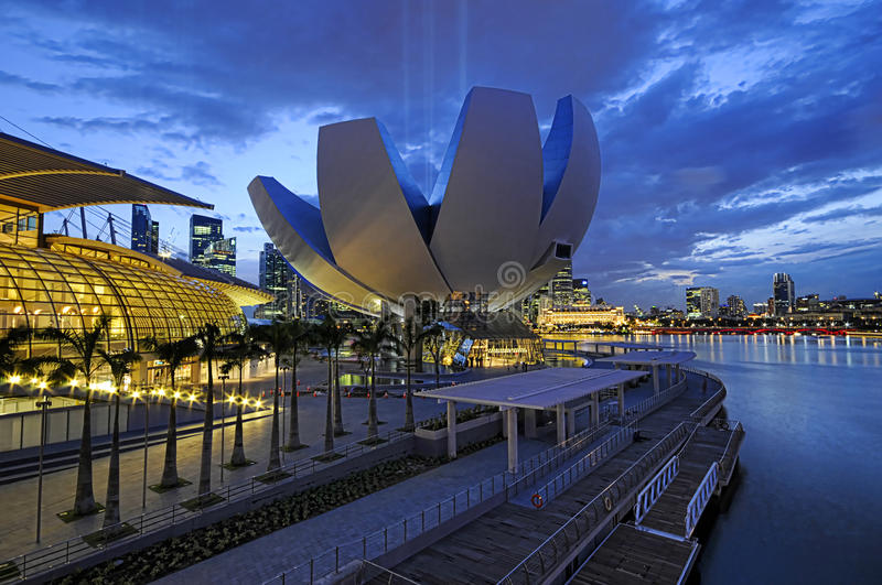 The ArtScience Museum, Singapore stock images