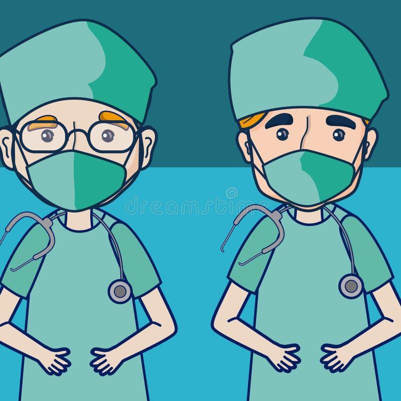 Artsen en medisch team vector illustratie