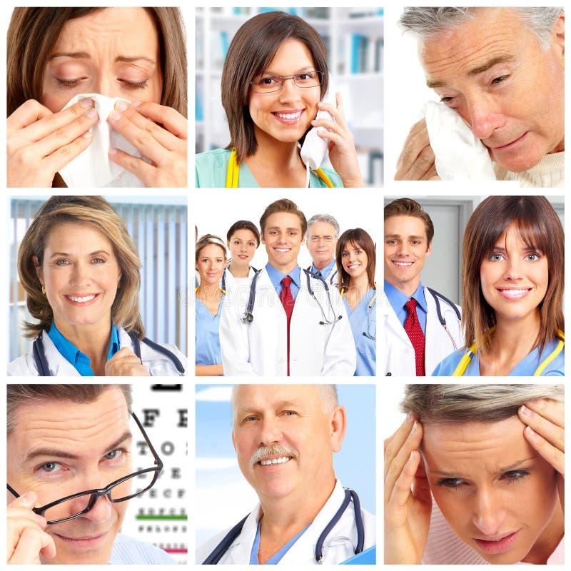 Artsen en patiënten royalty-vrije stock foto