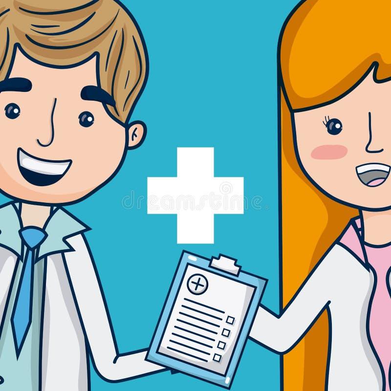 Artsen medisch team royalty-vrije illustratie